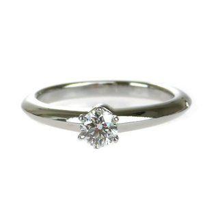 Authentic Tiffany & Co Logo Platinum Diamond Brilliant Cut PT950 Silver Accessor